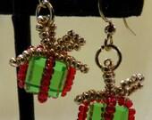 Christmas Package Earrings PDF Bead Weaving Tutorial (INSTANT DOWNLOAD)