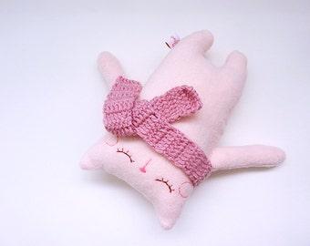 Cute Stuffed Cat, Stuffed Animal, Stuffed Plush, Stuffed Doll, Toy Cat, Cat Softie, Pink Cat Plush, Doll Cat