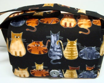 Super Large Size Fabric Coupon Organizer Holder Box- Cats Meow