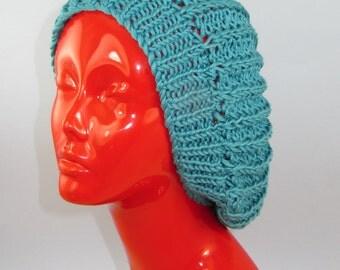 Instant Digital File pdf download Knitting Pattern - Chunky Fishermans Rib Super Slouch Hat knitting pattern by madmonkeyknits