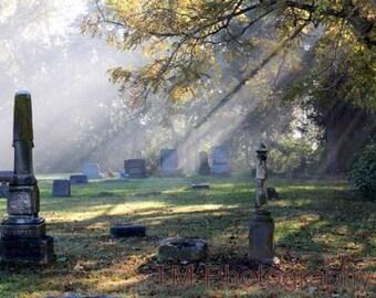 Foggy Cemetery, Cemetery Photography, Fine Art Photography, Tombstone Art, Cemetery Art, Cemetery Scene, Tombstone, Tombstone Photo