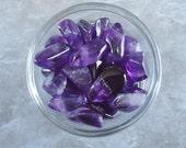Healing Crystals - Amethyst - Zambian Amethysts - Set of 2 Amethyst - Healing Stones - Memory - Motivation - Semi Precious