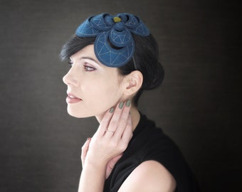 Modern Teal Felt Headband - Helix Series
