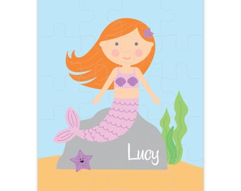 Personalized Mermaid Puzzle - Personalized Kids Puzzle - Mermaid - Pick your mermaid!
