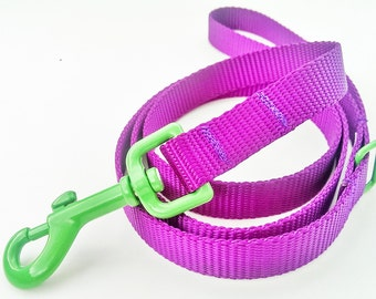 Basic Mix and Match Dog Leash - Pick Your Own Color Combinaton / Pet Accessories / Dog Leash / Handmade / Dog Collar