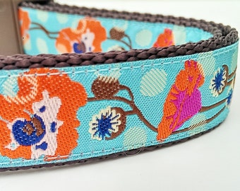 Poppies - Dog Collar / Handmade / Adjustable / Pet Accessories