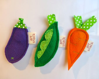 Vegetable Magnets, Unique Magnets, Kitchen Magnet, Veggies, Felt Magnets