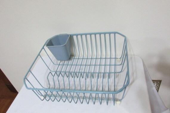 Wire Dish Drainer Blue Dish Rack