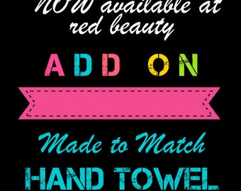 Custom Hand Towel - 16x25 inches - Designed to match any shower curtain design