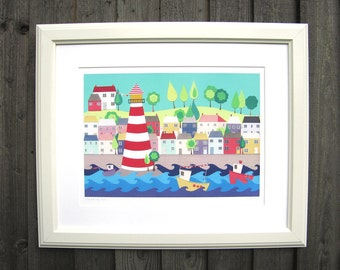 HEADING OUT - A3 Lighthouse art print