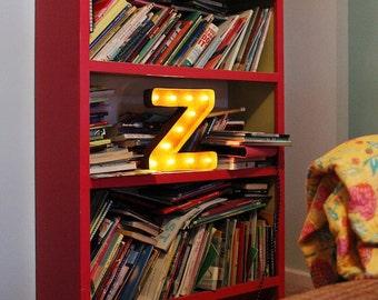 "SALE - Letter Light Z - RUSTY - 12"" Vintage Marquee Lights-The Original!"