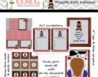 Mr. Potato Head Party Package  by Oh My Gluestick