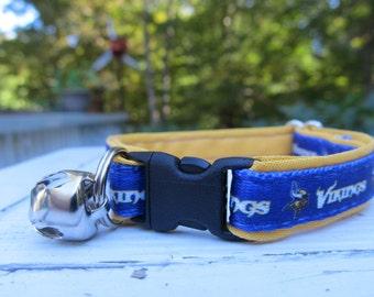Minnesota Vikings Cat or Small Dog Collar