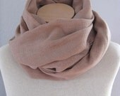 100 Percent Linen Scarf/Shawl in Soft, Muted Terracotta. Extra Long and Extra Wide. Luxe Accessories.