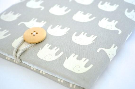Cute iPad Sleeve iPad Pro Case Padded iPad Case iPad Air Sleeve iPad Cover - Elephants