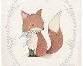 Mr. Fox Print - 8X10, 11X14