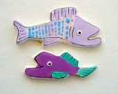Ceramic mosaic tiles fish for mosaics & art, crafts, decor, jewelry