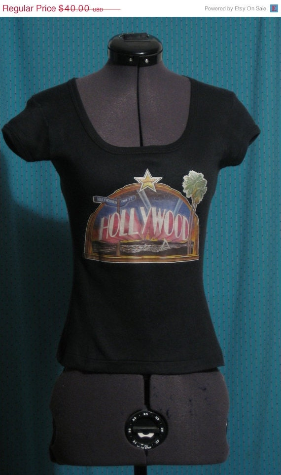 Holiday Sale 1970s Hollywood Sign Tshirt  79 Hollywood Souvenir Tshirt    Hollywood Sign 1970s