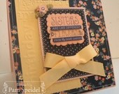 Handmade Custom Birthday Card for Special Sister