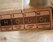 Periodic Table Holiday Christmas Ornament