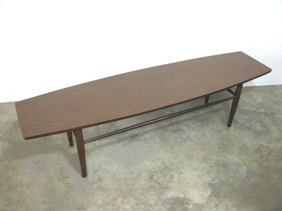Baumritter 60s surfboard coffee table for 60s coffee table