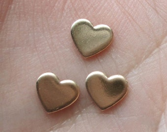 Small(22 gauge) Gold Filled Heart Stampings(2,4 or 20 hearts)