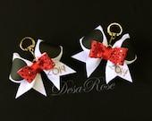 Minnie Mouse Customizable keychain bow or small hair clip