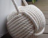 Nautical Decor - Large Cotton Nautical Doorstop - with Handle -  gift for her, for him, wedding gift, anniversary gift or birthday gift