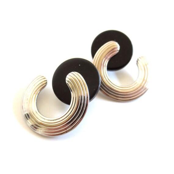 Vintage 80's Avon // Modern Geometric Earrings