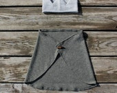 the everyday play capelet--moss green with wooden toggle button--hudson & ruthie