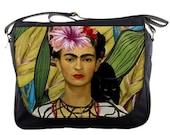 Unique Frida Kahlo And Black Cat Messenger Bag