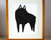 Schipperke Wall Art, Schipperke Illustration, Schipperke Print