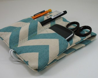 Lab Coat Pocket  Organizer - Nurse Pocket Case - Made to Order- Choose Fabric from Chart in Picture 5