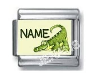 Personalized Crocodile Italian Charm for your Italian Charm Bracelet