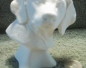 Beagle Dog Bust in Ceramic Bisque - Ready to Paint  Dogs Beagles