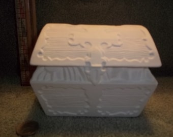 Pirates Treasure Chest Bank in Ceramic Bisque ready to be Painted