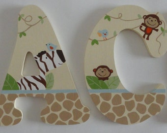 Handpainted Jungle Play Coordinating Wall Letters