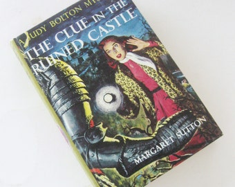 Vintage Judy Bolton Series Book The Clue in the Ruined Castle Original Margaret Sutton Picture Cover Original Mystery No 26 1960s