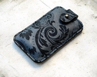 Floral iPhone 6 Case for women, iphone 6s case damask flower leather, summer gifts for her