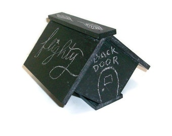 Hand Painted Chalkboard Wooden Birdhouse