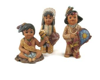 Set of 3 Ceramic Calendar Indians January February March