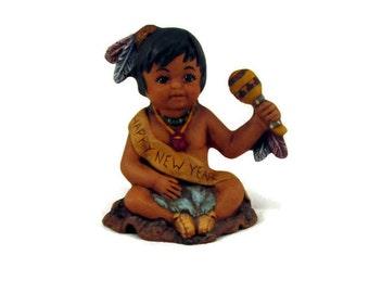 Ceramic Calendar Indian January Baby New Year