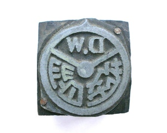 Vintage Stamp - Driving School Logo Stamp -  Vintage Japanese Metal Stamp - Wood Stamp - Rubber Stamp