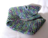 READY TO SHIP Knit Purple, Blue, and Green Sparkle Infinity Scarf