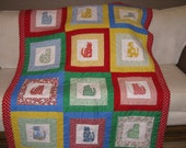 20% off Adorable baby quilt with kitten design