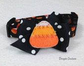 Candy Corn Halloween Dog Collar Size XS through Large by Doogie Couture Pet Boutique
