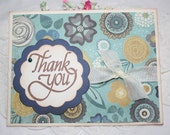 Greeting Card - Thank You - Gender Neutral - Blue and Yellow