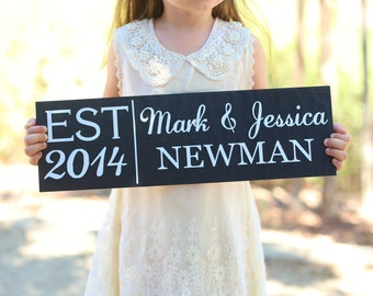 Personalized Flower Girl Ring Bearer Wedding Family Sign (Item Number MHD20000)