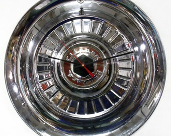 1954 Packard Clipper Wall Clock - 1950's Classic Car Hubcap Clock - Father's Day Gift - Hub Cap - Mid Century Decor