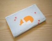 Fox Business Card Case Card Wallet Handmade Card Case